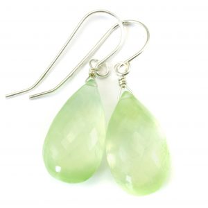 Shop Prehnite Earrings! Prehnite Earrings Teardrop AAA Drop Dangle Sterling Silver or 14k Solid Gold or Filled Natural faceted or smooth large Simple Soft Green | Natural genuine Prehnite earrings. Buy crystal jewelry, handmade handcrafted artisan jewelry for women.  Unique handmade gift ideas. #jewelry #beadedearrings #beadedjewelry #gift #shopping #handmadejewelry #fashion #style #product #earrings #affiliate #ad
