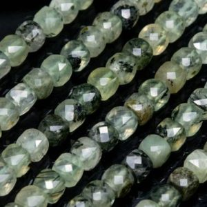 Shop Prehnite Faceted Beads! Genuine Natural Prehnite Loose Beads Grade AA Faceted Cube Shape 4-5mm | Natural genuine faceted Prehnite beads for beading and jewelry making.  #jewelry #beads #beadedjewelry #diyjewelry #jewelrymaking #beadstore #beading #affiliate #ad