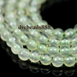 Shop Prehnite Round Beads! Prehnite,15 inch full strand natural Green Prehnite smooth round beads 2mm 3mm for Choice | Natural genuine round Prehnite beads for beading and jewelry making.  #jewelry #beads #beadedjewelry #diyjewelry #jewelrymaking #beadstore #beading #affiliate #ad