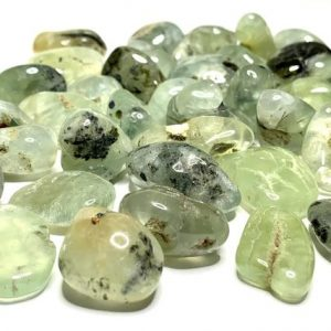 Shop Prehnite Stones & Crystals! Prehnite Tumbled Stones | Natural genuine stones & crystals in various shapes & sizes. Buy raw cut, tumbled, or polished gemstones for making jewelry or crystal healing energy vibration raising reiki stones. #crystals #gemstones #crystalhealing #crystalsandgemstones #energyhealing #affiliate #ad