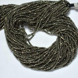 Shop Pyrite Rondelle Beads! Natural Pyrite Rondelle Beads, pyrite Gemstone Beads Rondelle Loose Beads Semi Precious Gemstone Bead For Jewelry 2.20mm 12.5inch Long Strand   Natural genuine rondelle Pyrite beads for beading and jewelry making.  #jewelry #beads #beadedjewelry #diyjewelry #jewelrymaking #beadstore #beading #affiliate #ad