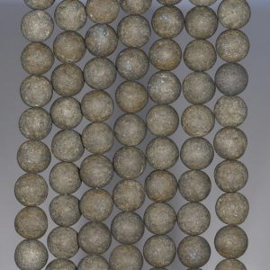 Shop Pyrite Round Beads! 6MM Matte Pyrite Gemstones Round 6MM Loose Beads 15.5 inch Full Strand (80000579-279) | Natural genuine round Pyrite beads for beading and jewelry making.  #jewelry #beads #beadedjewelry #diyjewelry #jewelrymaking #beadstore #beading #affiliate #ad