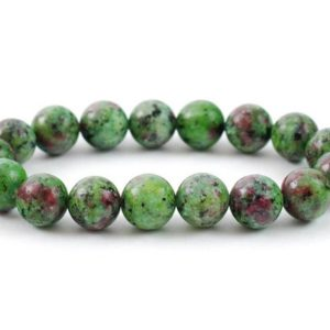 Shop Ruby Zoisite Bracelets! Ruby Zoisite Bracelet, Ruby Zoisite Bead 10 mm, Ruby Zoisite, Minerals, Ruby Zoisite Crystals, Gemstone Ruby Zoisite, Gift Bracelet, Zoisite | Natural genuine Ruby Zoisite bracelets. Buy crystal jewelry, handmade handcrafted artisan jewelry for women.  Unique handmade gift ideas. #jewelry #beadedbracelets #beadedjewelry #gift #shopping #handmadejewelry #fashion #style #product #bracelets #affiliate #ad