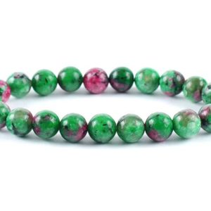 Shop Ruby Zoisite Bracelets! Ruby Zoisite Bracelet, Ruby Zoisite Bead 8 mm, Ruby Zoisite, Minerals, Ruby Zoisite Crystals, Gemstones Ruby Zoisite, Gift Bracelet, Zoisite | Natural genuine Ruby Zoisite bracelets. Buy crystal jewelry, handmade handcrafted artisan jewelry for women.  Unique handmade gift ideas. #jewelry #beadedbracelets #beadedjewelry #gift #shopping #handmadejewelry #fashion #style #product #bracelets #affiliate #ad