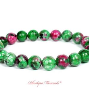 Shop Ruby Zoisite Bracelets! Ruby Zoisite Bracelet, Ruby Zoisite Bracelets, Ruby Zoisite Bracelet, 8 mm Healing Ruby Zoisite Bead Bracelet, Ruby Zoisite Beaded Bracelet | Natural genuine Ruby Zoisite bracelets. Buy crystal jewelry, handmade handcrafted artisan jewelry for women.  Unique handmade gift ideas. #jewelry #beadedbracelets #beadedjewelry #gift #shopping #handmadejewelry #fashion #style #product #bracelets #affiliate #ad