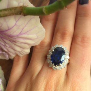 Shop Sapphire Rings! Blue Sapphire Ring, Created Sapphire, Blue Sapphire, Princess Di Ring, Royal Blue Ring, Blue Ring, Promise Ring, Anniversary Ring, Sapphire | Natural genuine Sapphire rings, simple unique handcrafted gemstone rings. #rings #jewelry #shopping #gift #handmade #fashion #style #affiliate #ad