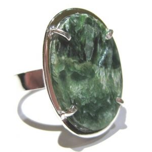 Shop Seraphinite Rings! Seraphinite ring silver 925%   Natural genuine Seraphinite rings, simple unique handcrafted gemstone rings. #rings #jewelry #shopping #gift #handmade #fashion #style #affiliate #ad