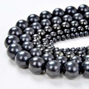 SALE !!! Genuine 100% Shungite Smooth Gemstone Anti Radiation High Carbon Grade AAA 4mm 6mm 8mm 10mm 12mm Round LOT 1,2,6,12 and 50 (A276) | Natural genuine round Shungite beads for beading and jewelry making.  #jewelry #beads #beadedjewelry #diyjewelry #jewelrymaking #beadstore #beading #affiliate #ad