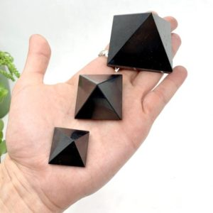 Shop Shungite Stones & Crystals! Shungite Pyramid | Natural genuine stones & crystals in various shapes & sizes. Buy raw cut, tumbled, or polished gemstones for making jewelry or crystal healing energy vibration raising reiki stones. #crystals #gemstones #crystalhealing #crystalsandgemstones #energyhealing #affiliate #ad