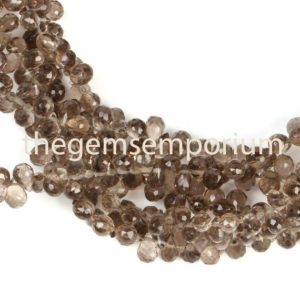 Shop Smoky Quartz Faceted Beads! Smoky Quartz Faceted Drop Shape Beads, Smoky Quartz Drop Shape Beads Side Drill, Smoky Quartz Fancy Shape Beads, Smoky Quartz  Beads | Natural genuine faceted Smoky Quartz beads for beading and jewelry making.  #jewelry #beads #beadedjewelry #diyjewelry #jewelrymaking #beadstore #beading #affiliate #ad