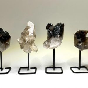 Shop Smoky Quartz Stones & Crystals! Smoky Quartz Cluster On Stand | Natural genuine stones & crystals in various shapes & sizes. Buy raw cut, tumbled, or polished gemstones for making jewelry or crystal healing energy vibration raising reiki stones. #crystals #gemstones #crystalhealing #crystalsandgemstones #energyhealing #affiliate #ad