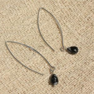 Shop Snowflake Obsidian Earrings! Earrings 925 Silver – snowflake Obsidian drops 7x5mm | Natural genuine Snowflake Obsidian earrings. Buy crystal jewelry, handmade handcrafted artisan jewelry for women.  Unique handmade gift ideas. #jewelry #beadedearrings #beadedjewelry #gift #shopping #handmadejewelry #fashion #style #product #earrings #affiliate #ad