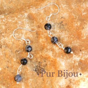 Shop Snowflake Obsidian Earrings! Earrings 925 sterling silver and 4mm snowflake Obsidian | Natural genuine Snowflake Obsidian earrings. Buy crystal jewelry, handmade handcrafted artisan jewelry for women.  Unique handmade gift ideas. #jewelry #beadedearrings #beadedjewelry #gift #shopping #handmadejewelry #fashion #style #product #earrings #affiliate #ad