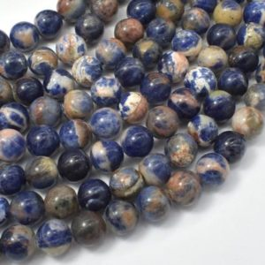 Shop Sodalite Beads! Orange Sodalite Beads,8mm (8.5mm) Round Beads, 15 Inch, Full strand, Approx 47 beads, Hole 1mm, A quality (411054020) | Natural genuine beads Sodalite beads for beading and jewelry making.  #jewelry #beads #beadedjewelry #diyjewelry #jewelrymaking #beadstore #beading #affiliate #ad