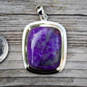Shop Sugilite Pendants! Sugilite pendant – Stunning Sugilite and Sterling Silver – Gorgeous Purple Sugilite Jewelry – Sugilite Silver Pendant – Sugilite necklace   Natural genuine Sugilite pendants. Buy crystal jewelry, handmade handcrafted artisan jewelry for women.  Unique handmade gift ideas. #jewelry #beadedpendants #beadedjewelry #gift #shopping #handmadejewelry #fashion #style #product #pendants #affiliate #ad