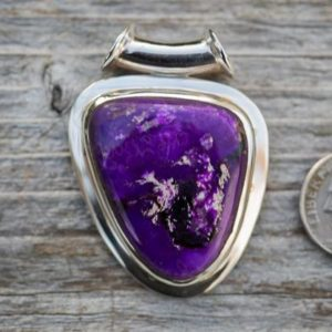 Shop Sugilite Pendants! Sugilite pendant – Sugilite Tube Bale in Sterling Silver – Gorgeous Tone – Sugilite Jewelry – Sugilite Silver Pendant – Sugilite necklace | Natural genuine Sugilite pendants. Buy crystal jewelry, handmade handcrafted artisan jewelry for women.  Unique handmade gift ideas. #jewelry #beadedpendants #beadedjewelry #gift #shopping #handmadejewelry #fashion #style #product #pendants #affiliate #ad