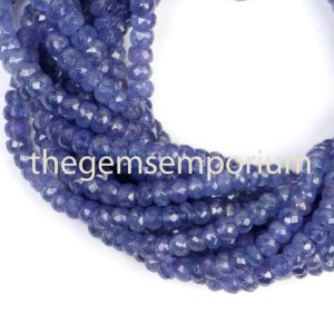 Shop Tanzanite Faceted Beads! Tanzanite Faceted Rondelle Beads, Tanzanite Faceted Beads, Tanzanite Rondelle Beads, Tanzanite Beads, Tanzanite Cutting Beads, top Quality Tz | Natural genuine faceted Tanzanite beads for beading and jewelry making.  #jewelry #beads #beadedjewelry #diyjewelry #jewelrymaking #beadstore #beading #affiliate #ad