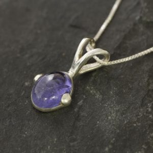 Shop Tanzanite Pendants! Tanzanite Necklace, Natural Tanzanite, Blue Oval Pendant, December Birthstone, Layering Necklace, Purple Pendant, Sterling Silver Pendant | Natural genuine Tanzanite pendants. Buy crystal jewelry, handmade handcrafted artisan jewelry for women.  Unique handmade gift ideas. #jewelry #beadedpendants #beadedjewelry #gift #shopping #handmadejewelry #fashion #style #product #pendants #affiliate #ad