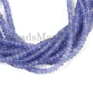 Shop Tanzanite Rondelle Beads! Tanzanite Smooth Rondelle Gemstone Beads, Tanzanite Plain Beads, Tanzanite Rondelle Shape Beads, Tanzanite Smooth Natural Beads, Tanzanite | Natural genuine rondelle Tanzanite beads for beading and jewelry making.  #jewelry #beads #beadedjewelry #diyjewelry #jewelrymaking #beadstore #beading #affiliate #ad