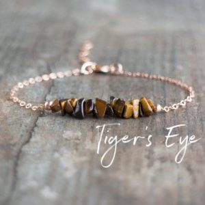 Tiger Eye Bracelet, Tigers Eye Bracelet, Raw Crystal Bracelet, Yoga Bracelet, Good Luck Bracelet, Raw Stone Jewelry Gifts for Women | Natural genuine Tiger Eye bracelets. Buy crystal jewelry, handmade handcrafted artisan jewelry for women.  Unique handmade gift ideas. #jewelry #beadedbracelets #beadedjewelry #gift #shopping #handmadejewelry #fashion #style #product #bracelets #affiliate #ad