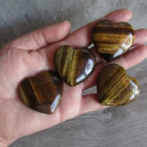 Shop Tiger Eye Shapes! Tiger Eye Large Flat Heart K271 | Natural genuine stones & crystals in various shapes & sizes. Buy raw cut, tumbled, or polished gemstones for making jewelry or crystal healing energy vibration raising reiki stones. #crystals #gemstones #crystalhealing #crystalsandgemstones #energyhealing #affiliate #ad