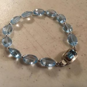 Shop Topaz Bracelets! Sky Blue Bracelet – Topaz Gemstone Jewelry – Sterling Silver Jewellery – Box Clasp – Luxe – Beaded | Natural genuine Topaz bracelets. Buy crystal jewelry, handmade handcrafted artisan jewelry for women.  Unique handmade gift ideas. #jewelry #beadedbracelets #beadedjewelry #gift #shopping #handmadejewelry #fashion #style #product #bracelets #affiliate #ad