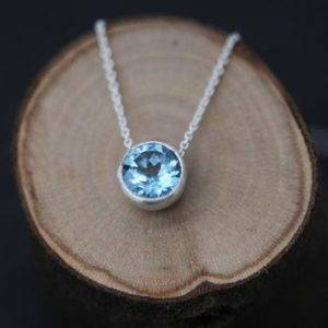Shop Topaz Pendants! Blue Topaz Pendant Necklace – Blue Gemstone Necklace in Silver | Natural genuine Topaz pendants. Buy crystal jewelry, handmade handcrafted artisan jewelry for women.  Unique handmade gift ideas. #jewelry #beadedpendants #beadedjewelry #gift #shopping #handmadejewelry #fashion #style #product #pendants #affiliate #ad