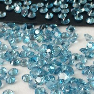 Shop Topaz Beads! 3mm Swiss Blue Topaz Round Cut Stones, Swiss Blue Topaz Solitaire Shape, Loose Topaz, Original Natural Topaz For Jewelry (1Ct To 5Ct Option) | Natural genuine beads Topaz beads for beading and jewelry making.  #jewelry #beads #beadedjewelry #diyjewelry #jewelrymaking #beadstore #beading #affiliate #ad