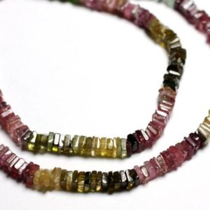 Shop Tourmaline Rondelle Beads! 10pc – Stone Beads – Multicolor Tourmaline Square Heishi Rondelle 3-4mm – 4558550087737 | Natural genuine rondelle Tourmaline beads for beading and jewelry making.  #jewelry #beads #beadedjewelry #diyjewelry #jewelrymaking #beadstore #beading #affiliate #ad