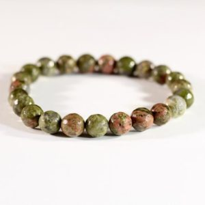 Shop Unakite Bracelets! Faceted Unakite Stretchy Bracelet // Elastic Bracelets // Stone Jewelry // Village Silversmith | Natural genuine Unakite bracelets. Buy crystal jewelry, handmade handcrafted artisan jewelry for women.  Unique handmade gift ideas. #jewelry #beadedbracelets #beadedjewelry #gift #shopping #handmadejewelry #fashion #style #product #bracelets #affiliate #ad