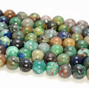 Shop Chrysocolla Round Beads! 7-8mm Genuine Shattuckite Chrysocolla Quantum Quattro Gemstone Grade AA Round Loose Beads 7.5 inch Half Strand (80009820-491) | Natural genuine round Chrysocolla beads for beading and jewelry making.  #jewelry #beads #beadedjewelry #diyjewelry #jewelrymaking #beadstore #beading #affiliate #ad