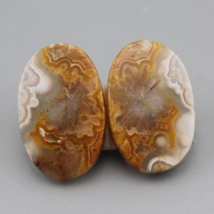 Shop Agate Cabochons! Crazy Lace Agate Matching Pair Cabochons | Natural genuine stones & crystals in various shapes & sizes. Buy raw cut, tumbled, or polished gemstones for making jewelry or crystal healing energy vibration raising reiki stones. #crystals #gemstones #crystalhealing #crystalsandgemstones #energyhealing #affiliate #ad