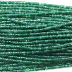 Natural Green Agate 3mm – 4mm Heishi Genuine Gemstone Loose Beads 15 inch Jewelry Supply Bracelet Necklace Material Support Wholesale | Natural genuine other-shape Gemstone beads for beading and jewelry making.  #jewelry #beads #beadedjewelry #diyjewelry #jewelrymaking #beadstore #beading #affiliate #ad