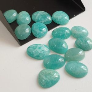 Shop Amazonite Cabochons! 13-16mm Amazonite Cabochons, Natural Plain Free Form Shape Amazonite Flat Back Cabochon, Amazonite for Jewelry (5Pcs To 10Pcs Option)-PDG298 | Natural genuine stones & crystals in various shapes & sizes. Buy raw cut, tumbled, or polished gemstones for making jewelry or crystal healing energy vibration raising reiki stones. #crystals #gemstones #crystalhealing #crystalsandgemstones #energyhealing #affiliate #ad