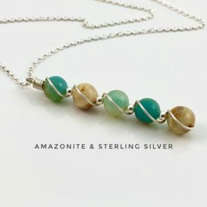 Shop Amazonite Necklaces! Amazonite Necklace, 925 Sterling Silver | Natural genuine Amazonite necklaces. Buy crystal jewelry, handmade handcrafted artisan jewelry for women.  Unique handmade gift ideas. #jewelry #beadednecklaces #beadedjewelry #gift #shopping #handmadejewelry #fashion #style #product #necklaces #affiliate #ad