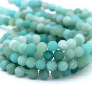 Matte Amazonite Beads 6mm 8mm 10mm Natural Amazonite Gemstone Beads Aqua Green Beads Mala Beads Amazonite Jewelry Supplies Mint Green Beads | Natural genuine other-shape Amazonite beads for beading and jewelry making.  #jewelry #beads #beadedjewelry #diyjewelry #jewelrymaking #beadstore #beading #affiliate #ad
