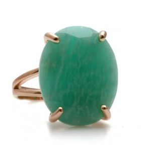 Shop Amazonite Rings! Fine Jewelry Amazonite ring · Rose Gold Filled Ring · Solid Rose Gold Ring · Oval Cocktail Ring · Gemstone Ring · Ring For Events | Natural genuine Amazonite rings, simple unique handcrafted gemstone rings. #rings #jewelry #shopping #gift #handmade #fashion #style #affiliate #ad