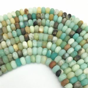 Shop Amazonite Rondelle Beads! 8x5mm Matte Amazonite Rondelle Beads, Gemstone Beads, Wholesale Beads | Natural genuine rondelle Amazonite beads for beading and jewelry making.  #jewelry #beads #beadedjewelry #diyjewelry #jewelrymaking #beadstore #beading #affiliate #ad