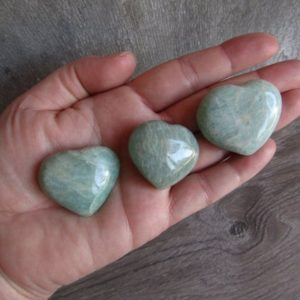 Shop Amazonite Shapes! Amazonite Medium Heart K80 | Natural genuine stones & crystals in various shapes & sizes. Buy raw cut, tumbled, or polished gemstones for making jewelry or crystal healing energy vibration raising reiki stones. #crystals #gemstones #crystalhealing #crystalsandgemstones #energyhealing #affiliate #ad