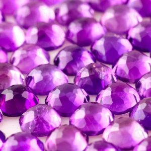 Shop Amethyst Cabochons! Amethyst (African) Rose Cut Cabochon 6mm Square Cushion – per stone | Natural genuine stones & crystals in various shapes & sizes. Buy raw cut, tumbled, or polished gemstones for making jewelry or crystal healing energy vibration raising reiki stones. #crystals #gemstones #crystalhealing #crystalsandgemstones #energyhealing #affiliate #ad