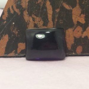 Natural 18cts. Brazilian Grape Amethyst Rectangle Cabochon 17.2mm x 13.6mm x 7.7mm Semi Precious Gemstone Untreated Dark Purple Amethyst | Natural genuine stones & crystals in various shapes & sizes. Buy raw cut, tumbled, or polished gemstones for making jewelry or crystal healing energy vibration raising reiki stones. #crystals #gemstones #crystalhealing #crystalsandgemstones #energyhealing #affiliate #ad