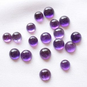 Shop Amethyst Cabochons! Natural Amethyst Cabochons Gemstone, Amethyst Round Loose Gemstone, Amethyst Round Shape Gemstone Cabochon 9 Pieces Lot, 6mm – 7mm Approx | Natural genuine stones & crystals in various shapes & sizes. Buy raw cut, tumbled, or polished gemstones for making jewelry or crystal healing energy vibration raising reiki stones. #crystals #gemstones #crystalhealing #crystalsandgemstones #energyhealing #affiliate #ad
