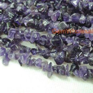 "Shop Amethyst Chip & Nugget Beads! 34"" Amethyst 5x10mm chips , amethyst small chips gemstone, semi-precious stone, purple color small DIY jewelry beads, gemstone wholesaler 