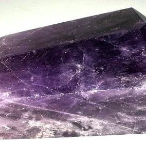 Shop Amethyst Points & Wands! Double Terminated Amethyst Point Weighs 1.99  Pounds  Cut and Polished | Natural genuine stones & crystals in various shapes & sizes. Buy raw cut, tumbled, or polished gemstones for making jewelry or crystal healing energy vibration raising reiki stones. #crystals #gemstones #crystalhealing #crystalsandgemstones #energyhealing #affiliate #ad