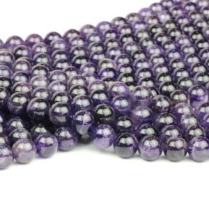 """Shop Amethyst Round Beads! Amethyst beads,February beads,gemstone beads,round beads,beading,jewelry making diy,wholesale beads,craft beads  – 16"""" Full Strand 