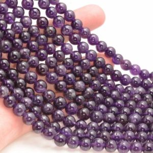 Shop Amethyst Beads! Free USA Ship 8mm Amethyst Gemstone Grade AA Deep Purple Round 8mm Beads 7.5 inch Half Strand LOT 1,2,6,12 and 50 (90191621-813) | Natural genuine beads Amethyst beads for beading and jewelry making.  #jewelry #beads #beadedjewelry #diyjewelry #jewelrymaking #beadstore #beading #affiliate #ad