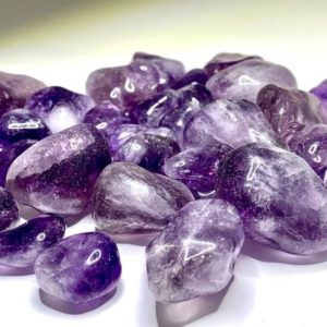 Shop Amethyst Stones & Crystals! Amethyst Tumbled Stones High Quality | Natural genuine stones & crystals in various shapes & sizes. Buy raw cut, tumbled, or polished gemstones for making jewelry or crystal healing energy vibration raising reiki stones. #crystals #gemstones #crystalhealing #crystalsandgemstones #energyhealing #affiliate #ad