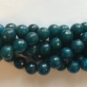 Shop Angelite Beads! angelite 6mm 8mm 10mm faceted round Gemstone Beads – 15 inches strand 1 strand/3 strands | Natural genuine faceted Angelite beads for beading and jewelry making.  #jewelry #beads #beadedjewelry #diyjewelry #jewelrymaking #beadstore #beading #affiliate #ad