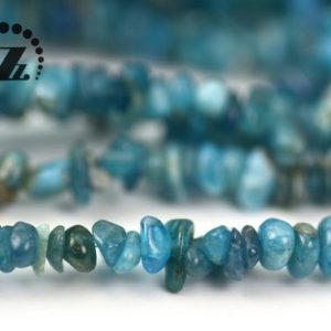 """Shop Apatite Chip & Nugget Beads! Blue Apatite chips beads,freeform,irregular beads,Genuine,Natural,DIY beads,Gesmtoen,4-6mm 5-8mm for choice,35"""" full strand   Natural genuine chip Apatite beads for beading and jewelry making.  #jewelry #beads #beadedjewelry #diyjewelry #jewelrymaking #beadstore #beading #affiliate #ad"""