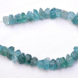 Rough Apatite Beads, Apatite Gemstone Raw Beads, Raw Gemstone, Rough Gemstone Beads 8mm To 11mm, 6 Inch Strand GN4634 | Natural genuine chip Gemstone beads for beading and jewelry making.  #jewelry #beads #beadedjewelry #diyjewelry #jewelrymaking #beadstore #beading #affiliate #ad